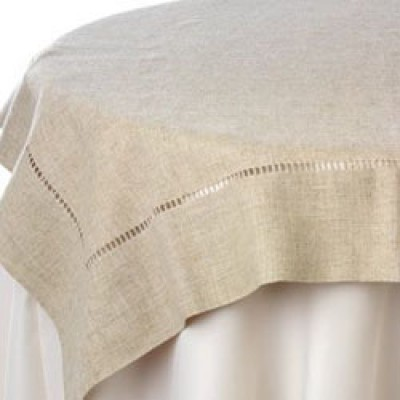 Hemstitch linen table cloth & http://longcraftcompany.com » Portfolio Categories » Table Cloths