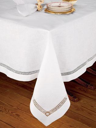 5 hemstitch linen